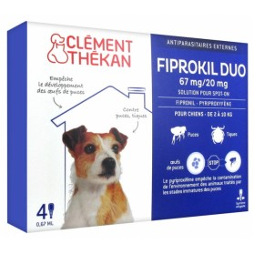 CLÉMENT THÉKAN FIPROKIL DUO 67 MG/20 MG CHIEN 4 PIPETTES