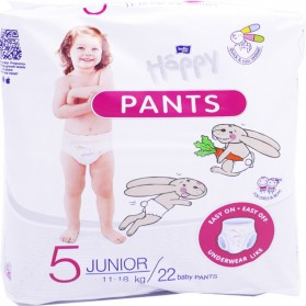 HAPPY PANTS 22 COUCHES CULOTTES 5 JUNIORS 11-18KG