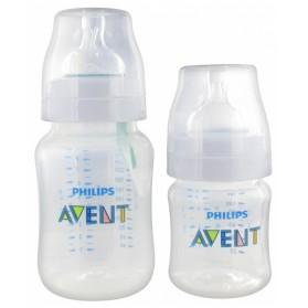 AVENT ANTI-COLIC VALVE AIRFREE 2 BIBERONS 125 ML + 260 ML 0 MOIS ET +