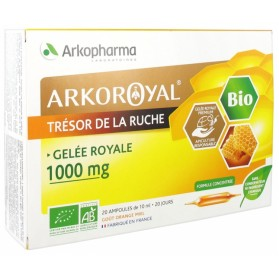 ARKOPHARMA ARKO ROYAL TRÉSOR DE LA RUCHE GELÉE ROYALE 1000 MG BIO 20 AMPOULES