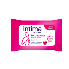 INTIMA GYN'EXPERT LINGETTES HYGIENE INTIME CRANBERRY x30
