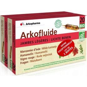 Arkopharma Arkofluides Jambes Légères Bio Lot de 2 x 20 ampoules