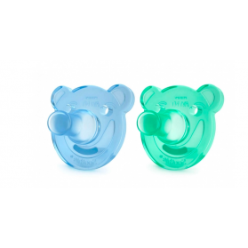 AVENT SUCETTES SILICONE ORTHODONTIQUES 0-3 MOIS X2 SOOTHIE - BLEU