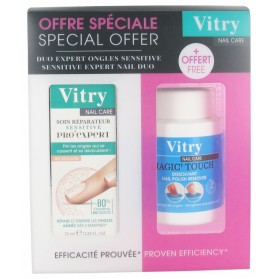 VITRY NAIL CARE SOIN RÉPARATEUR SENSITIVE PRO'EXPERT 10 ML + DISSOLVANT MAGIC'TOUCH 75 ML OFFERT
