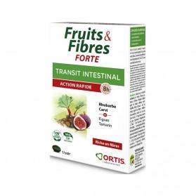 Ortis Fruits & Fibres Forte Transit Intestinal Action Rapide 12 Comprimés