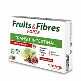 FRUITS & FIBRES FORTE TRANSIT INTESTINAL 12 CUBES A MACHER