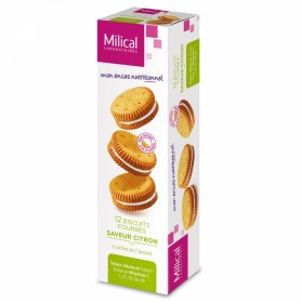 MILICAL BISCUIT 12 FOURRES 6 SACHETS DE 2 BISCUITS MILICAL - CITRON