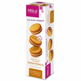 MILICAL BISCUIT 12 FOURRES 6 SACHETS DE 2 BISCUITS- NOISETTE