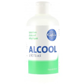 GIFRER Solution d'alcool éthylique 90% flacon de 250 ml