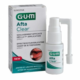 GUM AFTA CLEAR SPRAY APHTES ET LESIONS BUCCALES 15ML