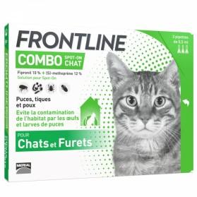 FRONTLINE COMBO SPOT-ON CHAT ET FURET 3 PIPETTES DE 0.5ML