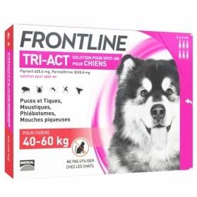 FRONTLINE - Tri-act - Spot-on chiens 40 à 60kg, 6 pipettes de 6ml