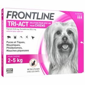 FRONTLINE TRI-ACT SPOT-ON CHIEN DE 2-5KG 3 PIPETTES DE 0,5ML