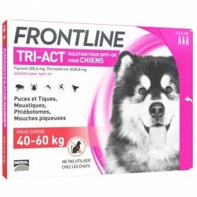 FRONTLINE TRI-ACT SPOT-ON CHIEN DE 40-60KG 3 PIPETTES DE 6ML