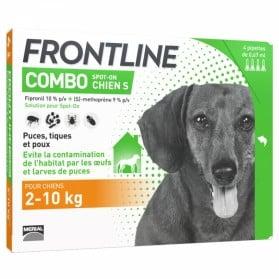 FRONTLINE COMBO SPOT-ON CHIEN S DE 2-10KG 4 PIPETTES 0,67ML