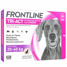 FRONTLINE - Tri-Act - Spot-on chiens 20 à 40kg, 6 pipettes de 4ml
