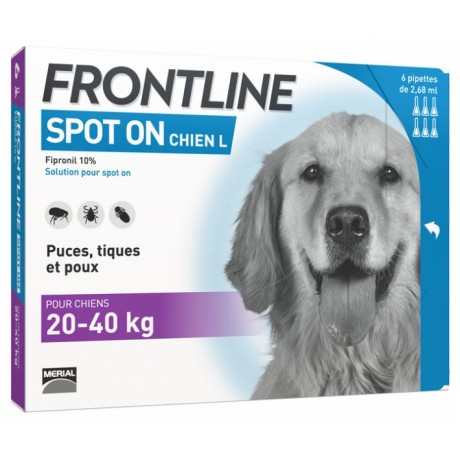 Frontline Spot On Chien L boite de 6