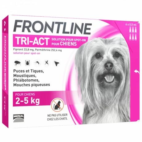 FRONTLINE - Tri-act - Spot-on chiens 2 à 5kg, 6 pipettes de 0,5ml