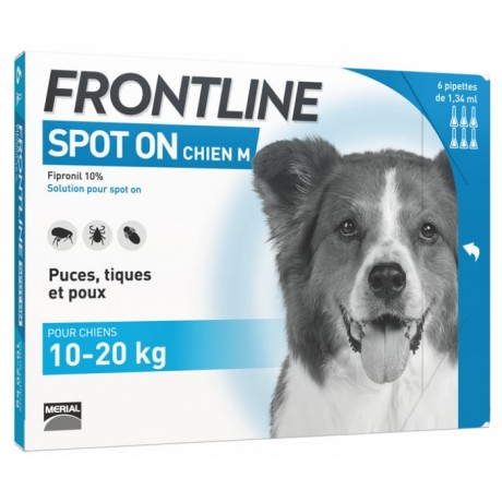 Frontline Spot on Chien M 6 pipettes