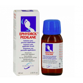 EPHYDROL PEDILANE SOLUTION AVEC PINCEAU APPLICATEUR DEODORANT PIEDS SUDO REGULATEUR 60ML