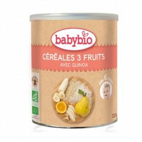 BABYBIO CEREALES BIO 220G DES 6 MOIS - 3 FRUITS QUINOA