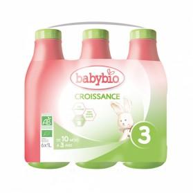 BABYBIO LAIT DE CROISSANCE LIQUIDE BIO DES 10 MOIS 6X1L