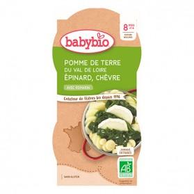 BABYBIO Bol de pomme de terre épinard chèvre dès 8 mois - 2x200g