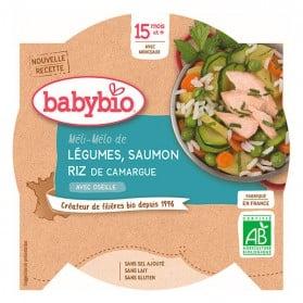BABYBIO Assiette Légumes Saumon Dès 15 Mois 260g