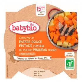 BABYBIO Assiette Patate douce Pintade Pruneau - 260g