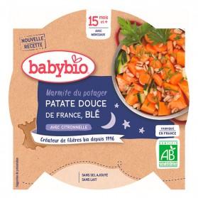 BABYBIO Assiette Patates Douces Blé Dès 15 mois 260gr