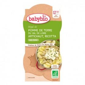 BABYBIO Bol Pomme de terre Artichaut Ricotta 2x200g