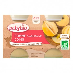 BABYBIO Alim inf pomme coing 2P/130g