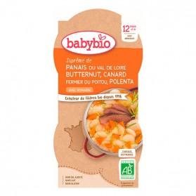 BABYBIO Bols Panais Courge Butternut Canard Polenta dès 12m