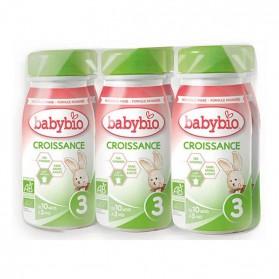 BABYBIO Pack de 6 Lait de Croissance 3 Bio dès 10 mois 250MLX6