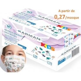 MASQUE CHIRURGICAL ENFANT BOITE DE 50 MASQUES