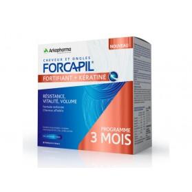 FORCAPIL FORTIFIANT + KERATINE PROGRAMME 3 MOIS 180 gélules