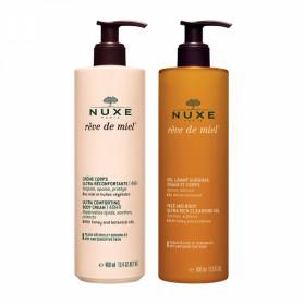 NUXE Rêve de Miel - Crème corps ultra-réconfortante 400ml + Gel lavant surgras 400ml
