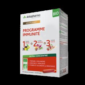 ARKOFLUIDE PROGRAMME IMMUNITE COFFRET BIO 3X10 AMPOULES