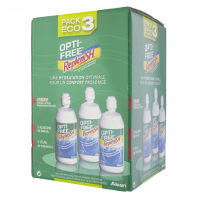 ALCON OPTI FREE REPLENISH SOLUTION MULTI-FONCTIONS DE DECONTAMINATION PACK DE 3 FLACONS DE 300ML