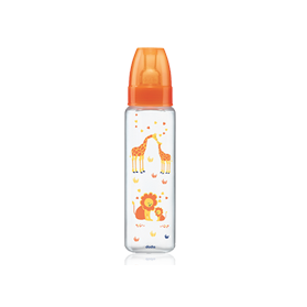 DODIE mon biberon col étroit 330ml orange safari