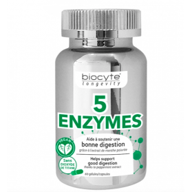 BIOCYTE 5 ENZYMES 60 GELULES LONGEVITE