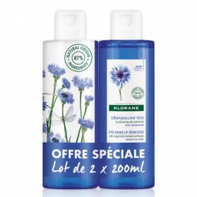 Klorane Démaquillant Yeux au Bleuet Lot de 2 x 200 ml