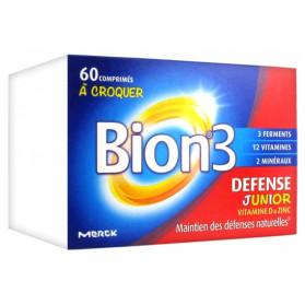 Bion 3 défense junior 60 comprimes a croquer gout frambooise