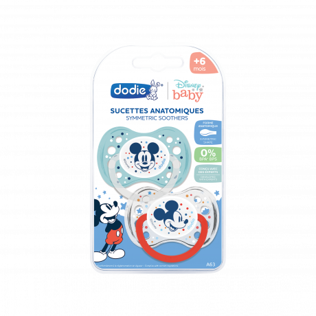 DODIE Sucette Anatomique Duo Mickey A63 6+ Mois