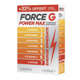 FORCE G POWER MAX OFFRE PROMO 20 AMPOULES