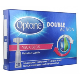 OPTONE DOUBLE ACTION YEUX SECS 10 X 0.5 ML UNIDOSES