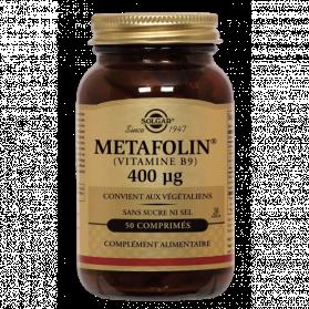 SOLGAR VIT B9 400MCG METAFOLIN 50 COMPRIMES