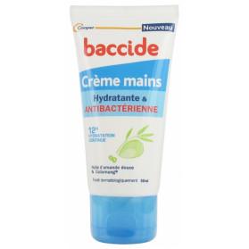 BACCIDE CRÈME MAINS HYDRATANTE ET ANTIBACTÉRIENNE 50 ML