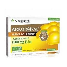 Arkopharma Arko Royal Gelée Royale 1500 mg Bio 20 Ampoules