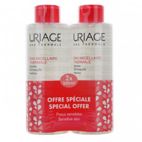 URIAGE Eau micellaire Thermale Peaux Sensibles lot de 2x500ml